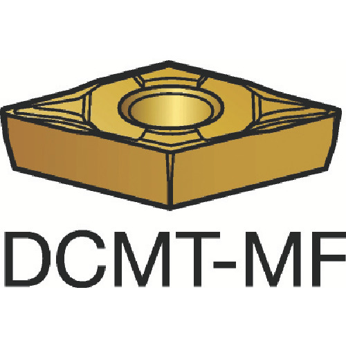 サンドビック コロターン107 旋削用ポジ・チップ 1115 COAT(DCMT070202MF)