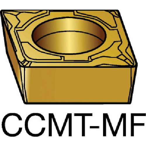 サンドビック コロターン107 旋削用ポジ・チップ 2015 COAT(CCMT09T304MF)