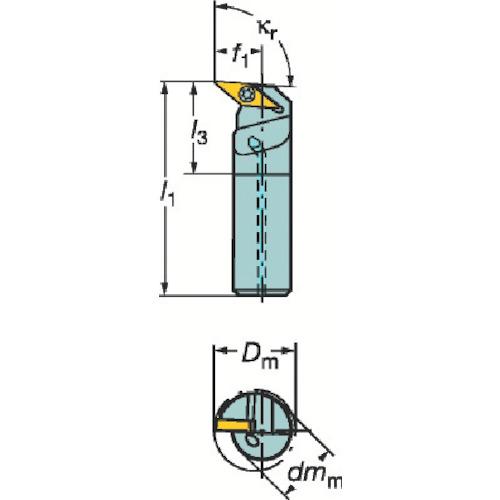 サンドビック コロターン107 ポジチップ用ボーリングバイト(A16RSVUCR11E)
