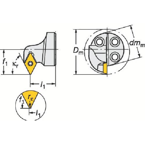 サンドビック コロターンSL コロターン111用カッティングヘッド(570SDXPR2007E)