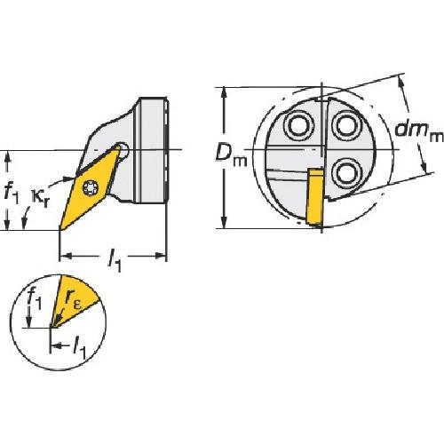 完成品 サンドビック コロターンSL コロターン107用カッティングヘッド(570SVQCL2511D):ペイントアンドツール-DIY・工具