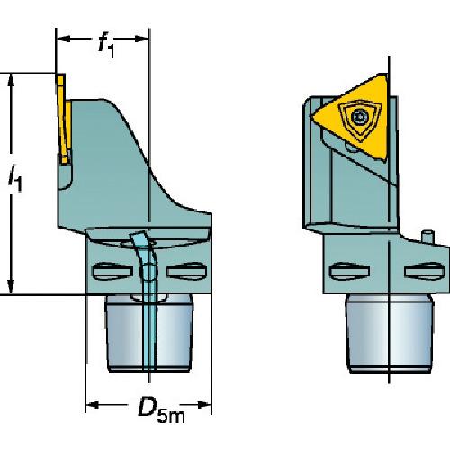 サンドビック コロマントキャプト コロカット1・2用カッティングユニット(C6LF123J1345065B)