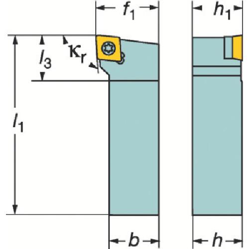 サンドビック コロターン107 ポジチップ用シャンクバイト(SCLCR2020K09)