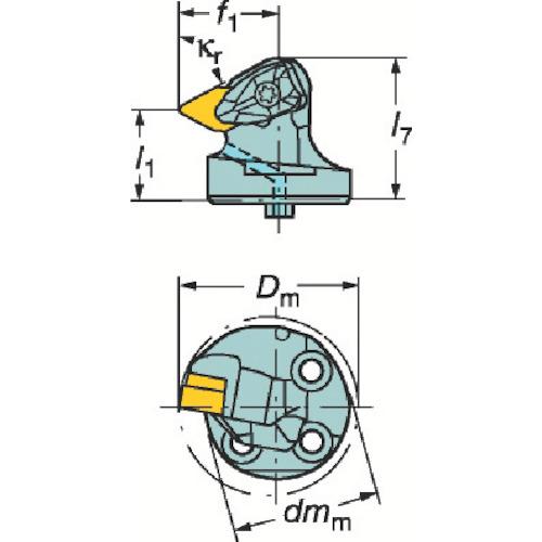サンドビック コロターンSL コロターンRC用カッティングヘッド(570DDXNR4015L)