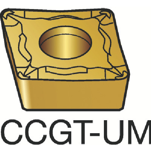 サンドビック コロターン107 旋削用ポジ・チップ 1105 COAT(CCGT09T304UM)