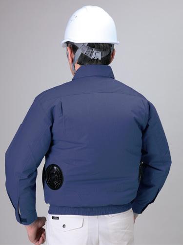 冷却ファン内臓 2段階調節機能付 熱中症対策 【長袖 空調服 作業着】 モスグリーン 各サイズ