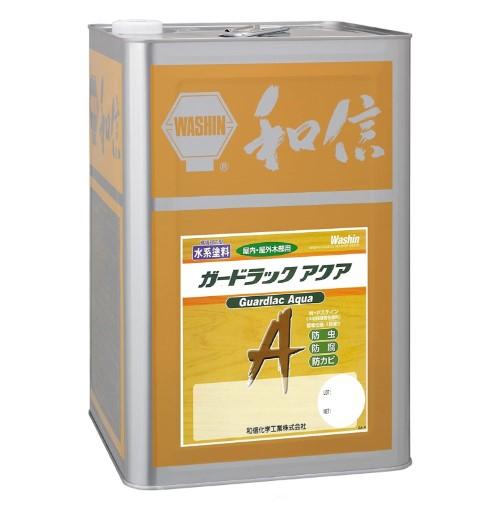 木材保護塗料 ガードラックアクア W・Pステイン オリーブ A-7 14K缶 【和信化学工業株式会社】
