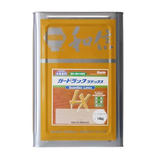 浸透タイプ 木材保護塗料 ガードラックラテックス W・Pステイン グリーン LX-6 14Kg缶 【和信化学工業株式会社】