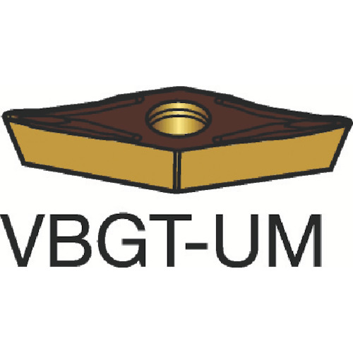 サンドビック コロターン107 旋削用ポジ・チップ 1115 COAT(VBGT160404UM)