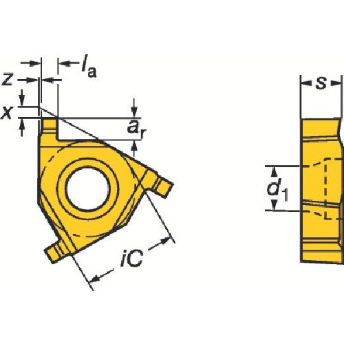 サンドビック T-Max U-ロック 溝入れチップ 1020 COAT(L154.0G11CC01110)