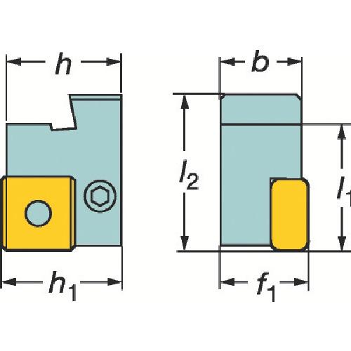 サンドビック 旋削用カセットホルダ(L175.32322319)