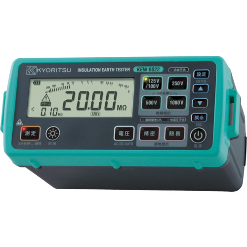 KYORITSU デジタル絶縁・接地抵抗計(L型プローブモデル)(KEW6022L)