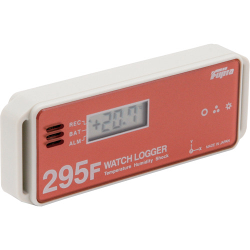 Fujita 表示付温湿度・衝撃データロガー(フェリカタイプ)(KT295F)