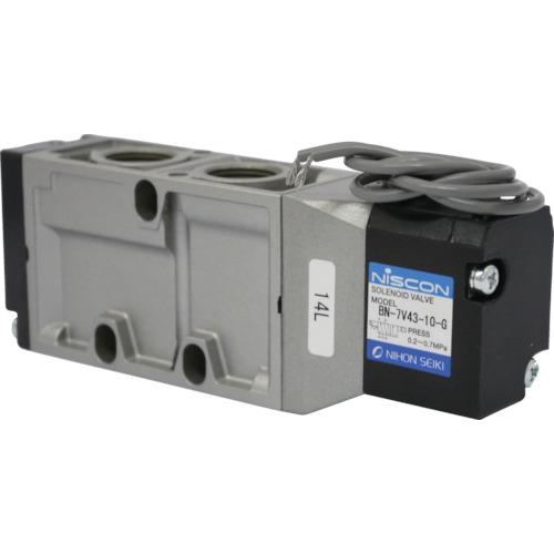 日本精器 4方向電磁弁10AAC100Vグロメット7Vシリーズシングル(BN7V4310GE100)