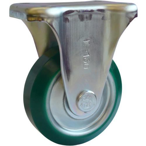 シシク スタンダードプレスキャスター ウレタン車輪 固定 300径(UWK300)