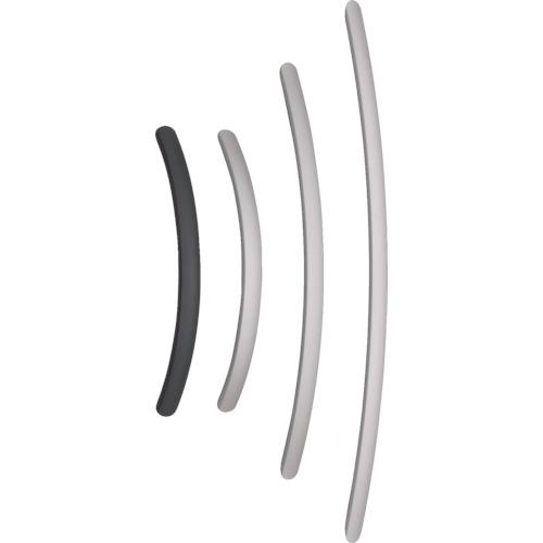 スガツネ工業 アルミ製弓形ハンドルSOR型400シルバー(100-010-961(SOR400S)