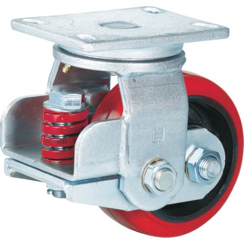 SAMSONG スプリング機能付きキャスター 自在150mm 耐荷重670kg(TP7160PCIBB)