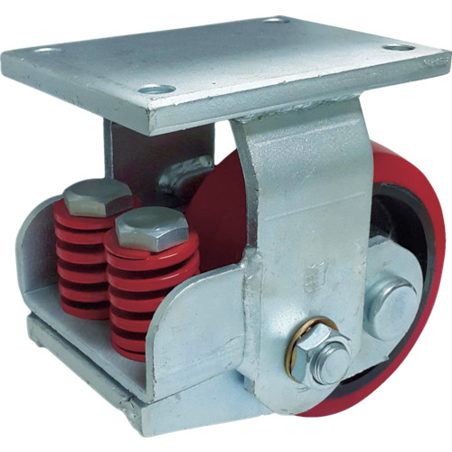 SAMSONG スプリング機能付きキャスター 固定150mm 耐荷重900kg(TP7561RPCIBB)