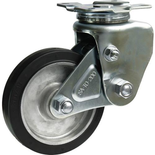 シシク 緩衝キャスター 自在 200径 ゴム車輪(SAJTO200TRAW)