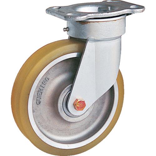 スエヒロ リボキャスター自在車 ウレタン車輪 Φ200(TSH8ATR)
