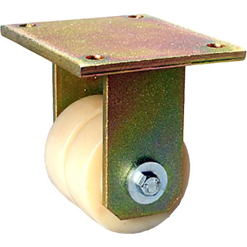 シシク 低床重荷重用双輪キャスター 固定 80径(BSDGSPO80K)