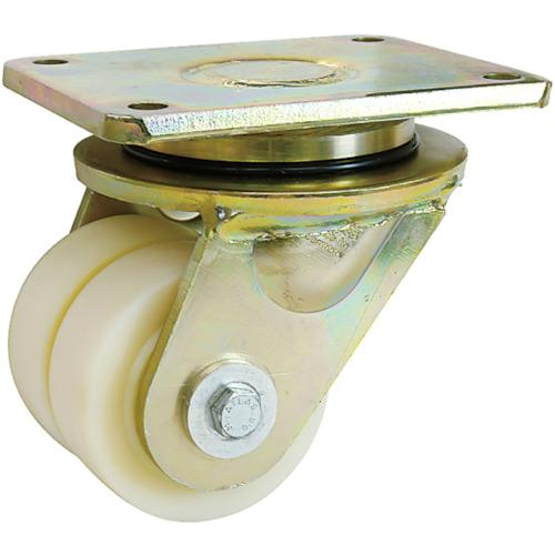シシク 低床重荷重用双輪キャスター 自在 100径(LSDGSPO100K)