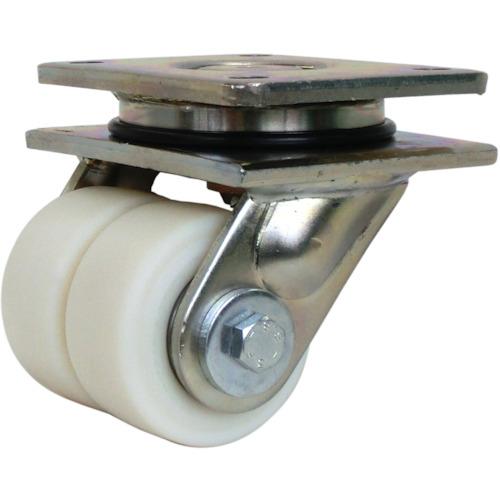 シシク 低床重荷重用双輪キャスター 自在 80径(LSDGSPO80K)