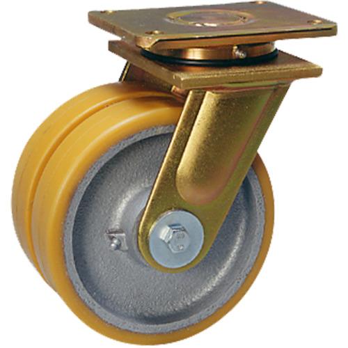 シシク 超重荷重用双輪キャスター 自在 200径(LSDGTH200K35)