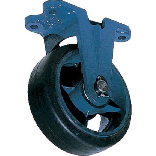 京町 鋳物製金具付ゴム車輪(幅広)(AHU300X100)
