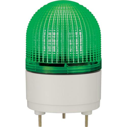パトライト KHE型 LED表示灯 Φ100 点滅・流動・ストロボ発光 緑(KHE24G)