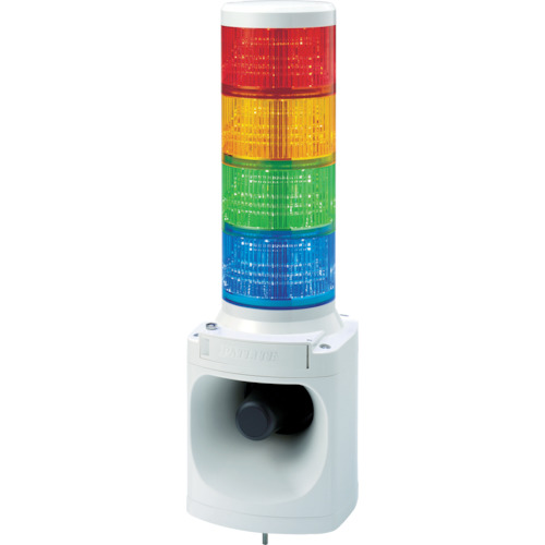 パトライト LED積層信号灯付き電子音報知器(LKEH402FARYGB)