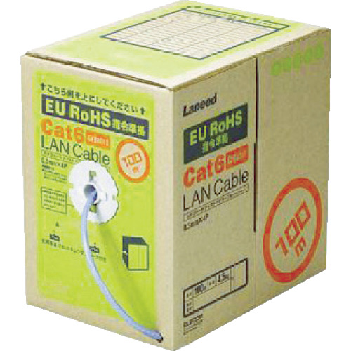 エレコム EURoHS指令準拠LANケーブル300m/リール巻ライトグレー(LDCT6LG300RS)