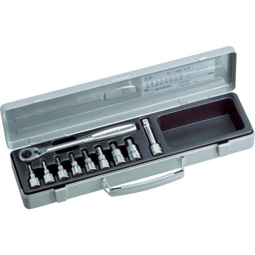 TONE ヘキサゴンソケットレンチセット 吋目 10pcs(HB3082)