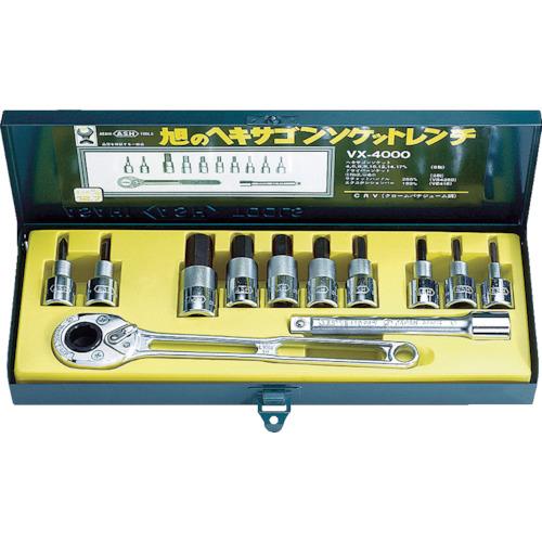 ASH ソケットレンチ用ヘキサゴンソケットセット12.7□(VX4000)