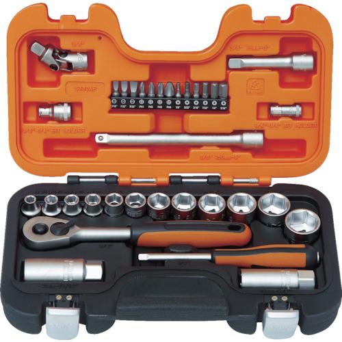 バーコ インチソケットセット 1/4 3/8 差込角6.35mm 9.5mm(S330AF)