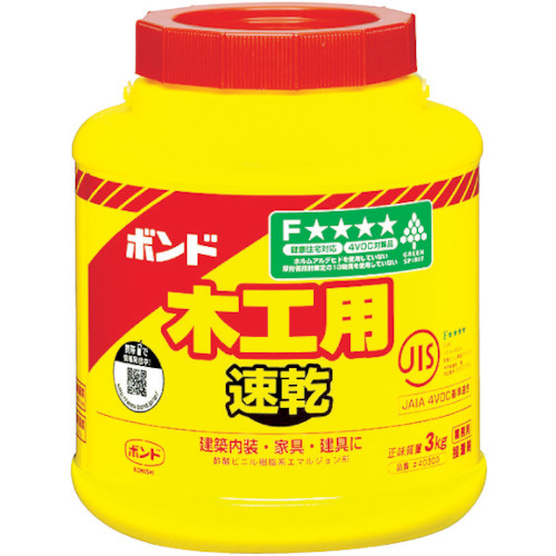 コニシ ボンド木工用速乾 3kg 1箱(6缶)(ポリ缶)(40303)