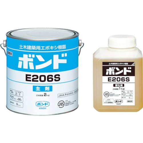 コニシ E206W 3kgセット(45721)4セット