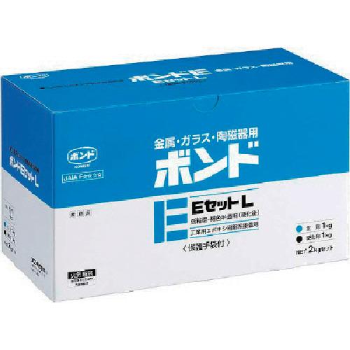 コニシ ボンドEセットL 2kgセット 1箱(6セット)低粘度 L #45027 L(BE2)