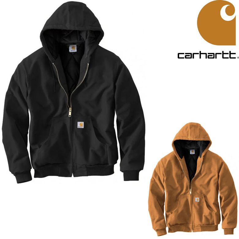 CARHARTT QUILTED FLANNEL LINE DUCK ACTIVE JACKET カーハート ジャケット メンズ アクティブジャケット フードジャケット アウター J140