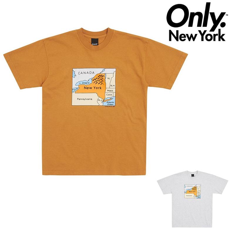 12時迄のご注文で当日出荷 追跡可能メール便対応可能 安心な手渡し オンリーニューヨーク Tシャツ 5%OFF ONLY NY MAP NEW プリントTシャツ YORK 予約販売 半袖Tシャツ TEE