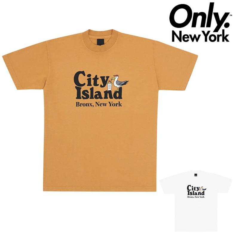 12時迄のご注文で当日出荷 追跡可能メール便対応可能 安心な手渡し オンリーニューヨーク お得なキャンペーンを実施中 Tシャツ ONLY 激安通販 NY CITY プリントTシャツ 半袖Tシャツ ISLAND YORK TEE NEW