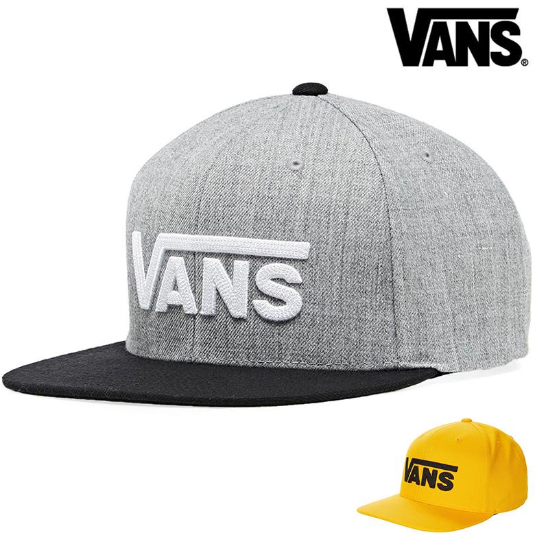 12時までなら当日出荷 VANS ヴァンズ バンズ キャップ DROP スナップバックキャップ V おトク SNAPBACK 売買 CAP USA企画商品 帽子