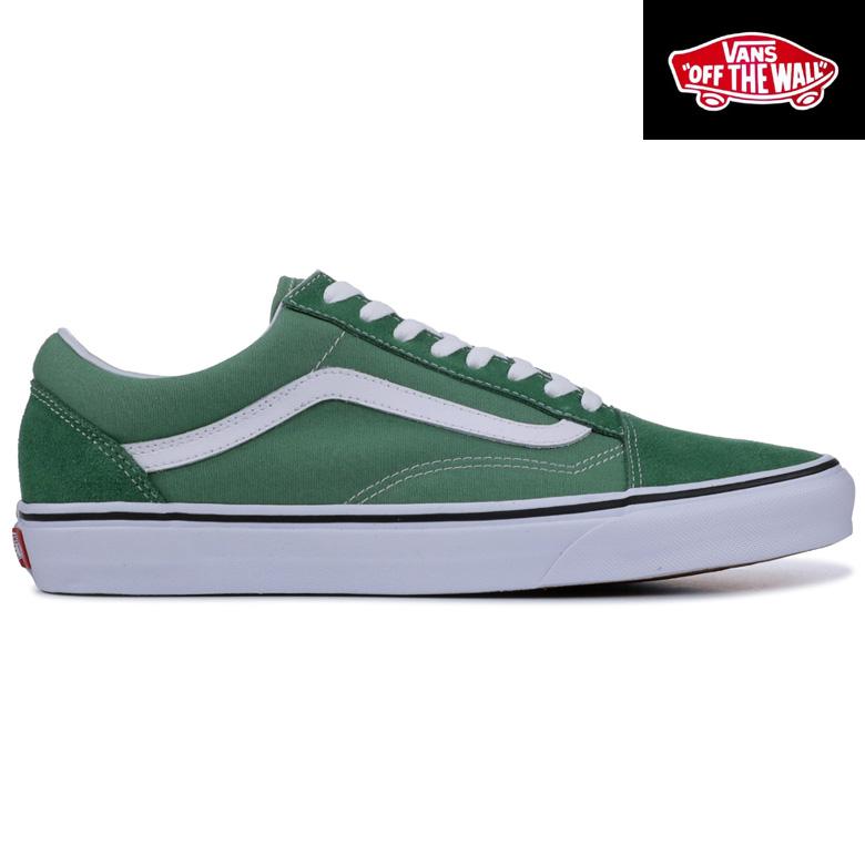 Old Skool Ua Wagons Station Vans Shoes Sneakers Deep Greentrue White School Grass j5AR4L