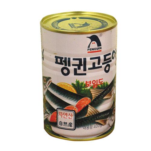 \骨まで食べられる大変やわらかいサバ煮 ペンギン サバ缶詰 400g さば セール価格 サバ缶 韓国料理 韓国食材 海外限定 ポイントアップ祭 韓国食品マラソン 韓国缶詰