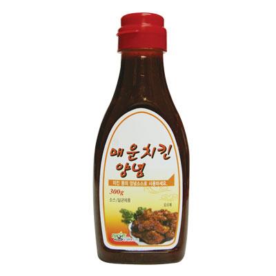 \韓国式のヤンニョムチキンが作れる辛口フライドチキンソース ニューグリーン フライドチキンソース 辛口 300g たれ × 公式通販 から揚げソース ポイントアップ祭 韓国食品スーパーセール 韓国食材 限定価格セール