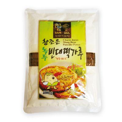 『草野』緑豆ピンデトック粉|緑豆チヂミの粉(400g)チヂミ 粉類 韓国料理 韓国食材 韓国食品\ピンデトックは緑豆と米をすり潰した生地で作る緑豆チヂミ/マラソン ポイントアップ祭