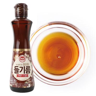 楽天市場】『ヘピョ』えごま油(320ml)|エゴマ油□韓国荏胡麻油 韓国 ...