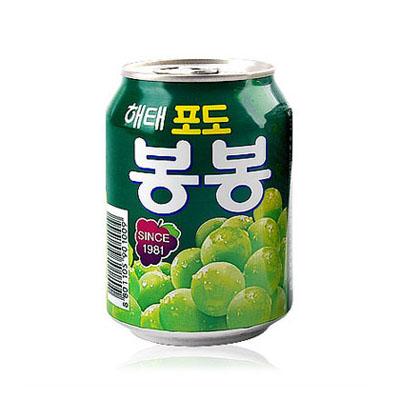 \ぶどうの果実がまるごと入ったジュース/ 『ヘテ』 ぶどうボンボン | 青ぶどうジュース (238ml×1個) 果実ジュース 韓国飲料 韓国ドリンク 韓国飲み物 韓国食品マラソン ポイントアップ祭
