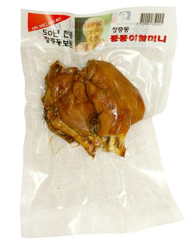 \ゼラチン質のプリプリ感と肉のシコシコの歯ごたえ 冷蔵 匠忠洞 味付け豚足 半分切り 小 格安激安 豚肉 ポイントアップ祭 贈与 加工食品 韓国料理マラソン 約300g