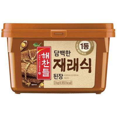 \厳選した大豆で真心を込めてじっくり漬けたこだわりのお味噌 ヘチャンドル 卓抜 在来式テンジャン 味噌 3kg デンジャン 韓国調味料 韓国食材 在庫一掃 ポイントアップ祭 韓国料理 韓国食品マラソン